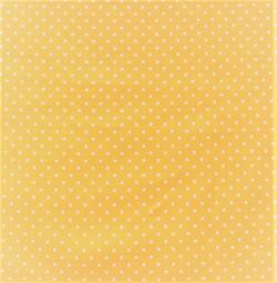 Baumwolle gelb weiße Punkte