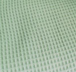 Waffelstoff Waffelpiqué helles mintgrün