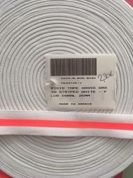 Gurtband weiß coral 25mm