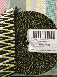 Gurtband schwarz gelb 4cm