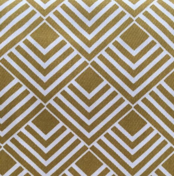 Canvas senfgelb weiß geometrisch