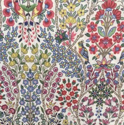 Liberty Fabric birds red