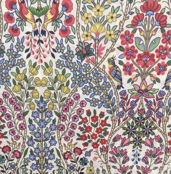 Liberty Fabric birds red