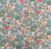 Liberty Fabric, Flowers türkis