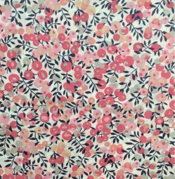 Liberty Fabric, red berry